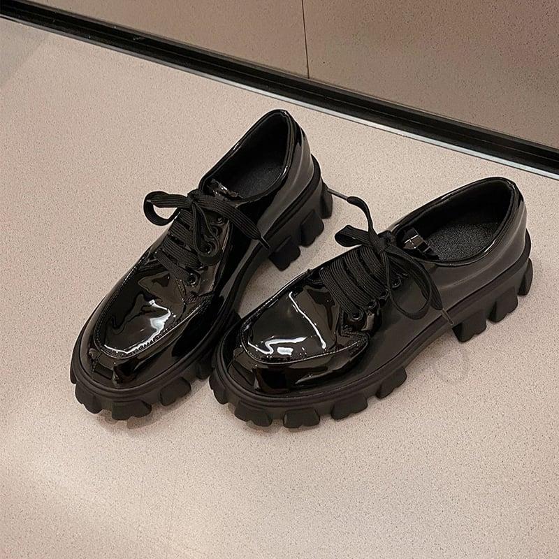 Chiko Colmana Round Toe Block Heels Oxford