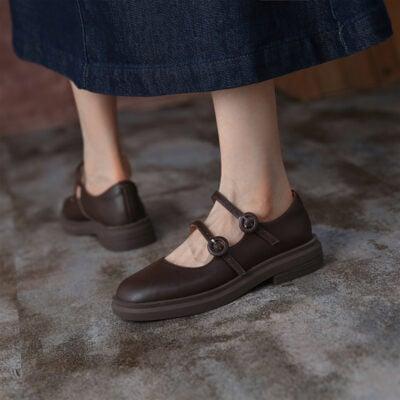 Chiko Clemence Round Toe Block Heels Pumps