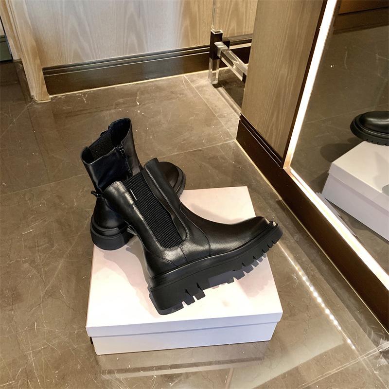Chiko Clementine Round Toe Block Heels Boots
