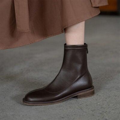 Chiko Colomba Square Toe Block Heels Boots