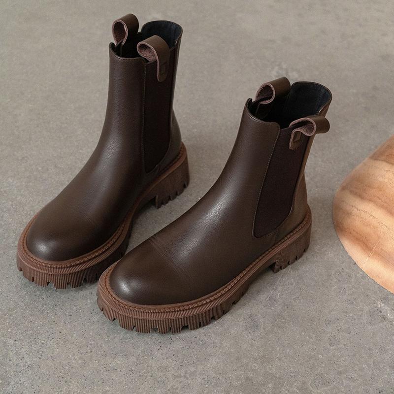 Chiko Claudia Round Toe Block Heels Boots