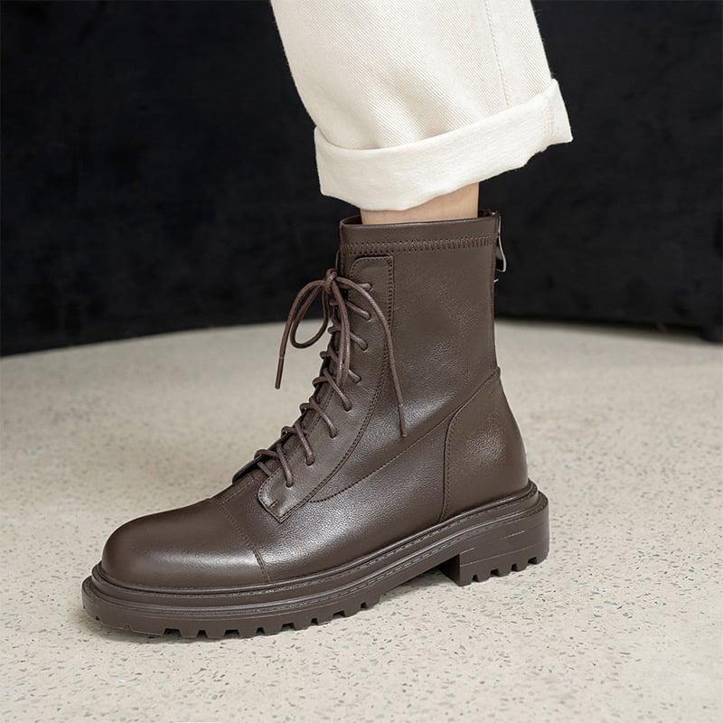 Chiko Connie Round Toe Block Heels Boots