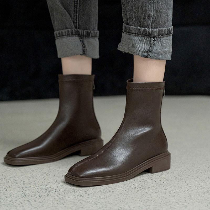Chiko Concordia Square Toe Block Heels Boots