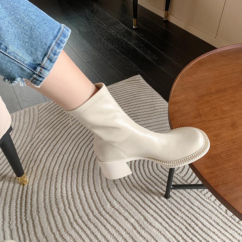 Chiko Colombina Round Toe Block Heels Boots