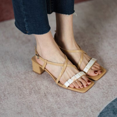 Chiko Antonia Open Toe Block Heels Sandals
