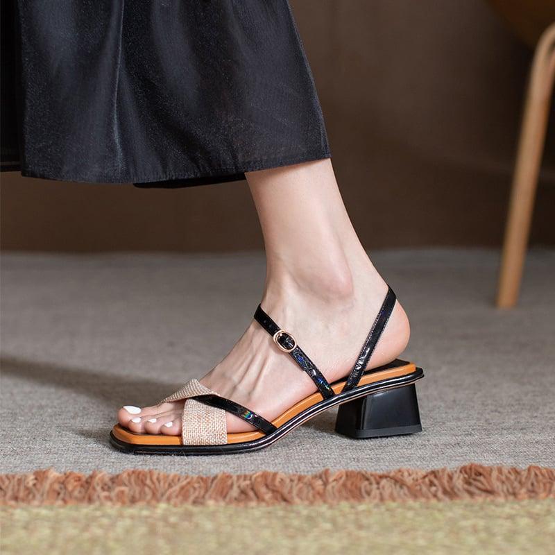 Chiko Antania Open Toe Block Heels Sandals