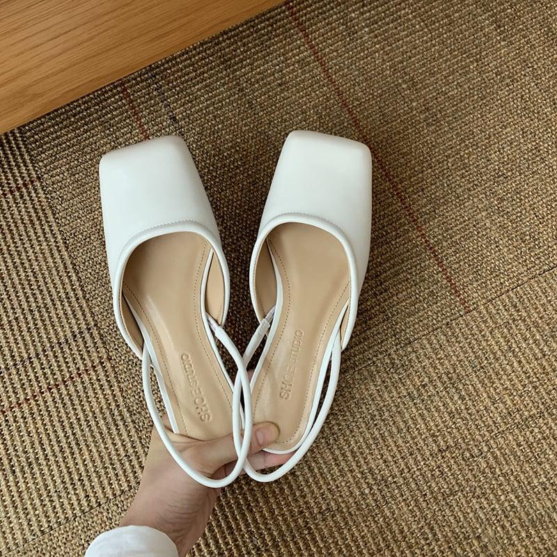 Chiko Amilie Square Toe Kitten Heels Pumps