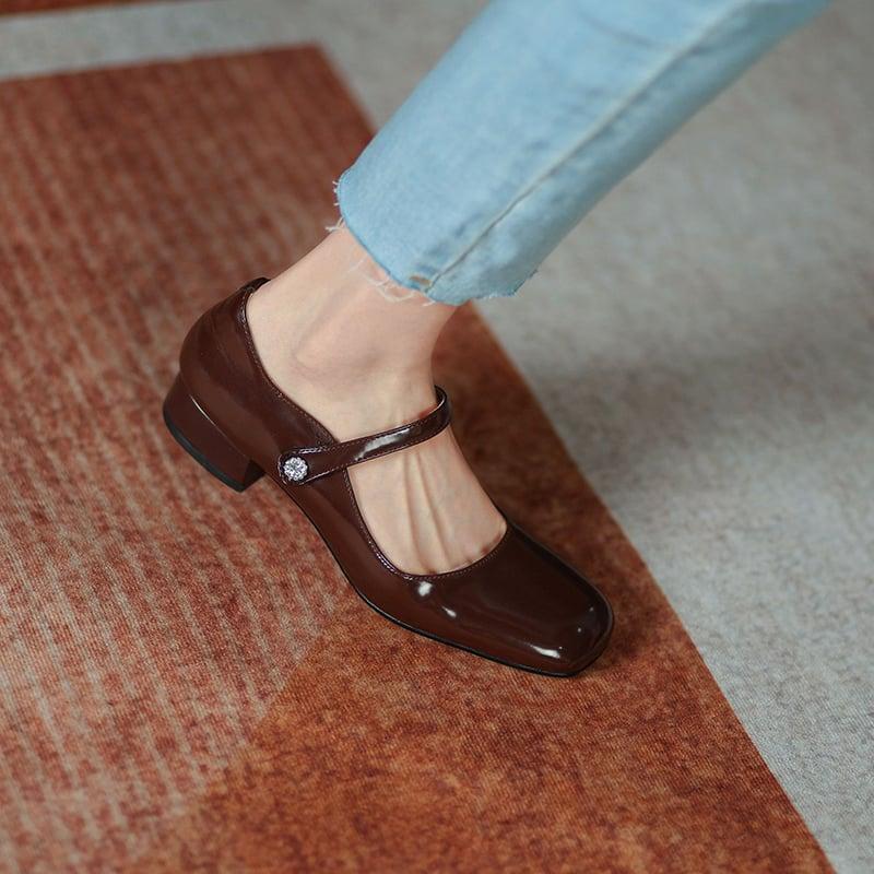 Chiko Antonina Square Toe Block Heels Pumps