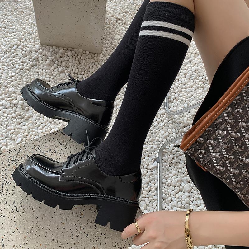 Chiko Domilia Square Toe Block Heels Oxford