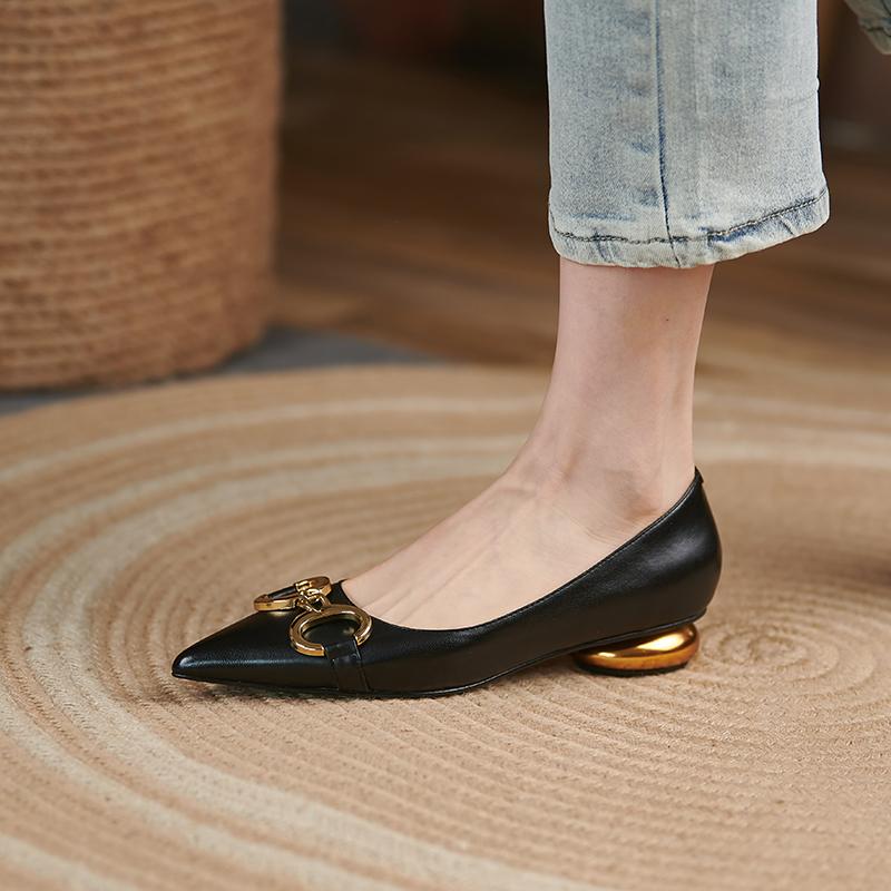 Chiko Dominica Pointed Toe Block Heels Pumps