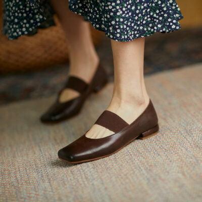Chiko Diandra Square Toe Block Heels Pumps