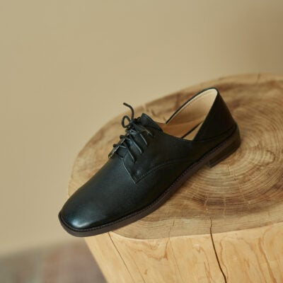 Chiko Domana Square Toe Block Heels Oxford