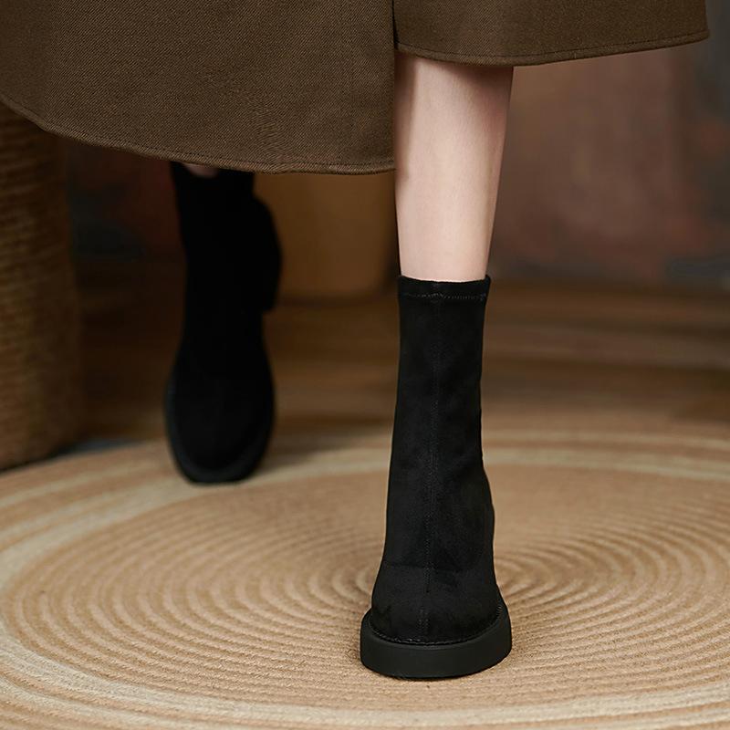Chiko Felisha Round Toe Block Heels Boots