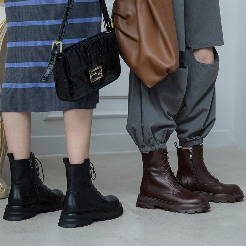Chiko Elida Round Toe Block Heels Boots
