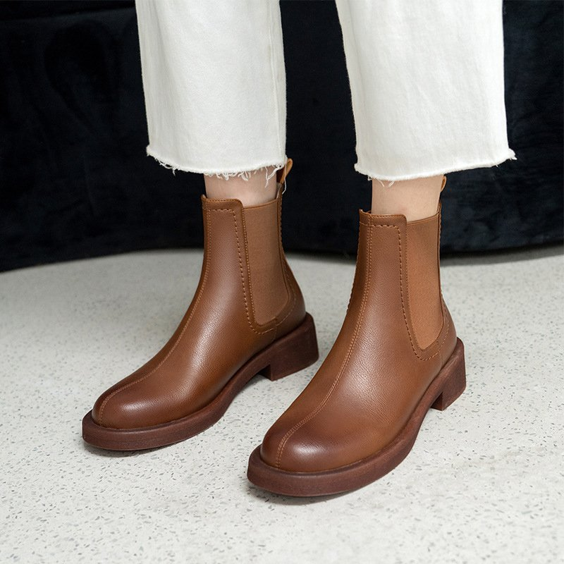 Chiko Emerenciana Round Toe Block Heels Boots