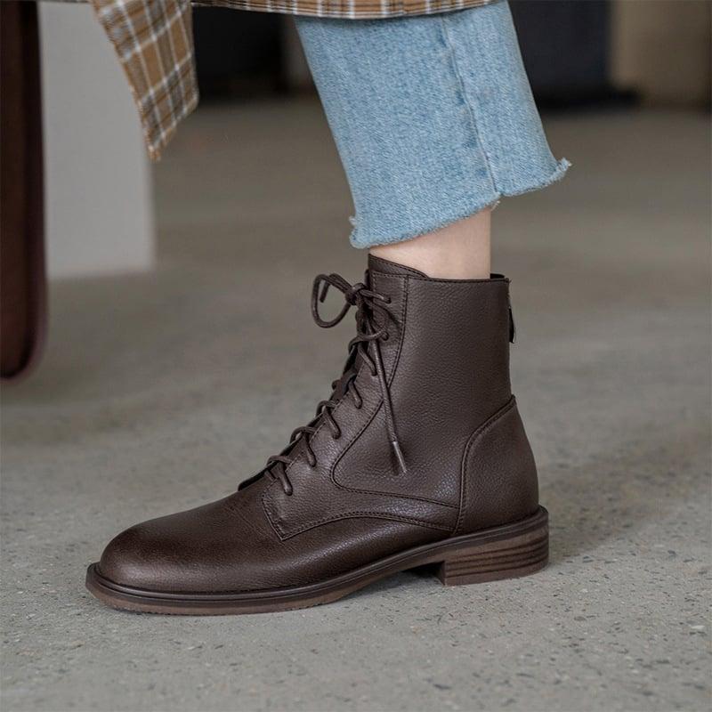 Chiko Erma Round Toe Block Heels Boots
