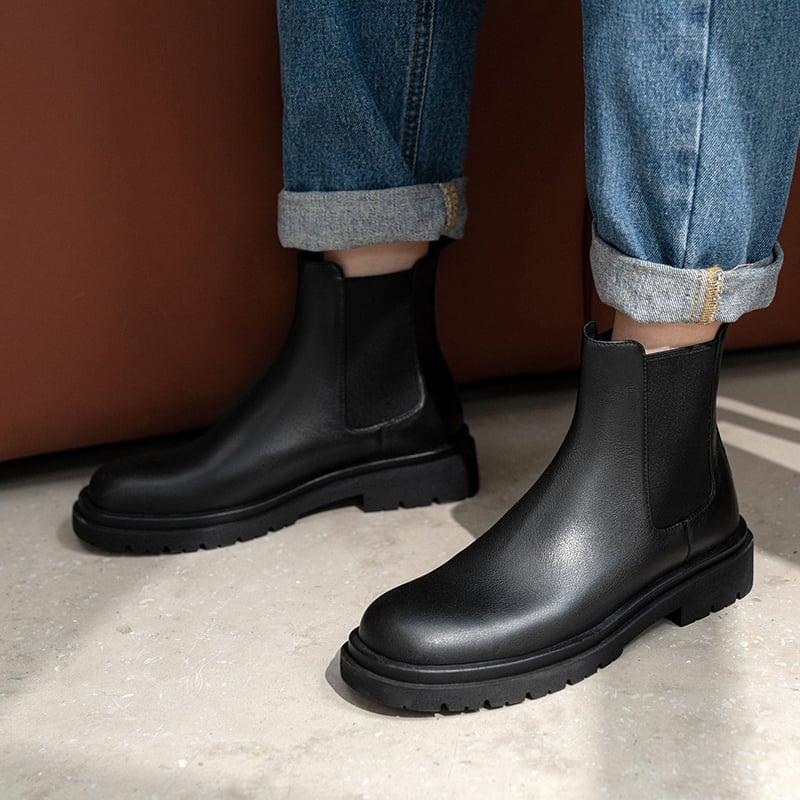 Chiko Elvira Round Toe Block Heels Boots