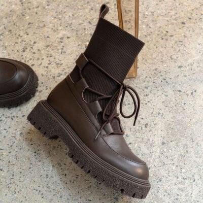 Chiko Elvera Round Toe Block Heels Boots