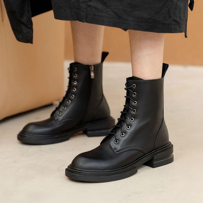 Chiko Elyse Round Toe Block Heels Boots