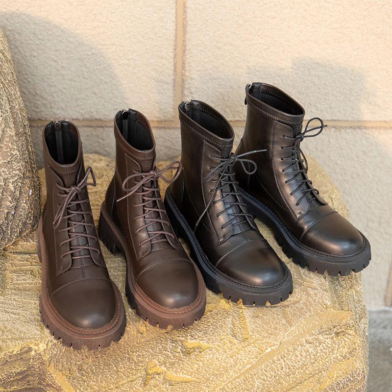 Chiko Elyssa Round Toe Block Heels Boots