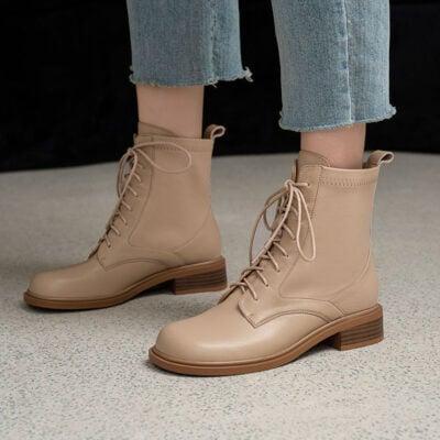 Chiko Emelia Square Toe Block Heels Boots