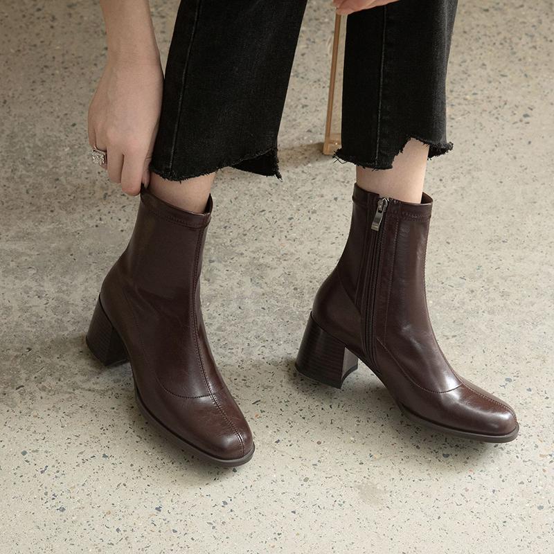 Chiko Gioconda Round Toe Block Heels Boots