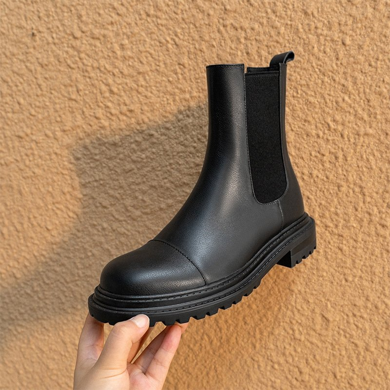 Chiko Giunia Square Toe Block Heels Boots