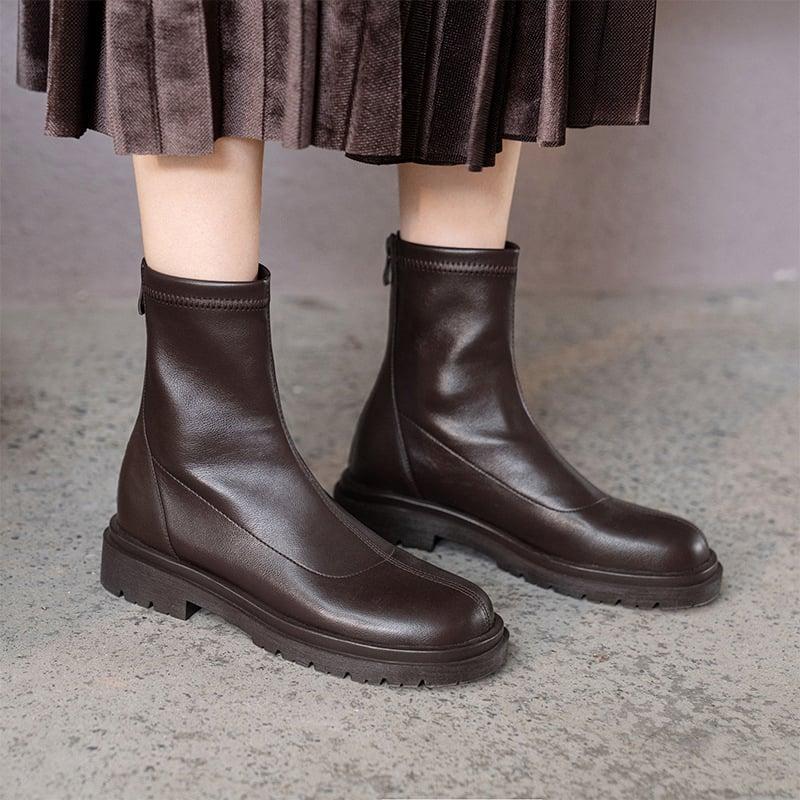 Chiko Emelie Round Toe Block Heels Boots