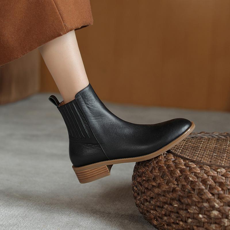 Chiko Grace Round Toe Block Heels Boots