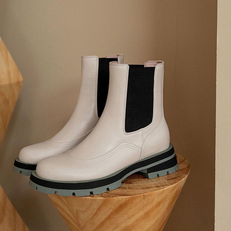 Chiko Gloria Round Toe Block Heels Boots