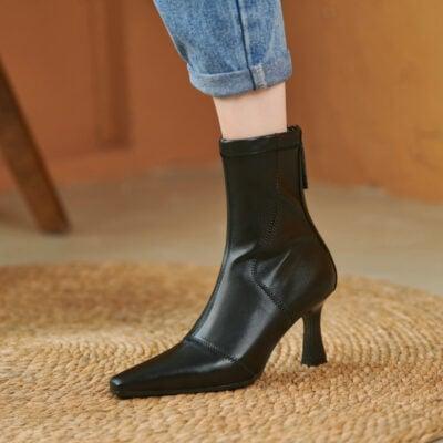 Chiko Ignia Square Toe Stiletto Boots