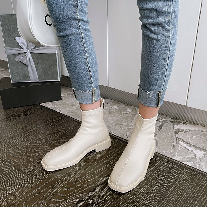 Chiko Idara Square Toe Block Heels Boots
