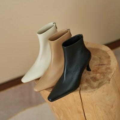 Chiko Indigo Square Toe Stiletto Boots