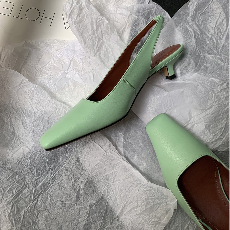 Chiko Latonya Square Toe Kitten Heels Pumps