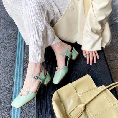 Chiko Laricia Square Toe Block Heels Pumps