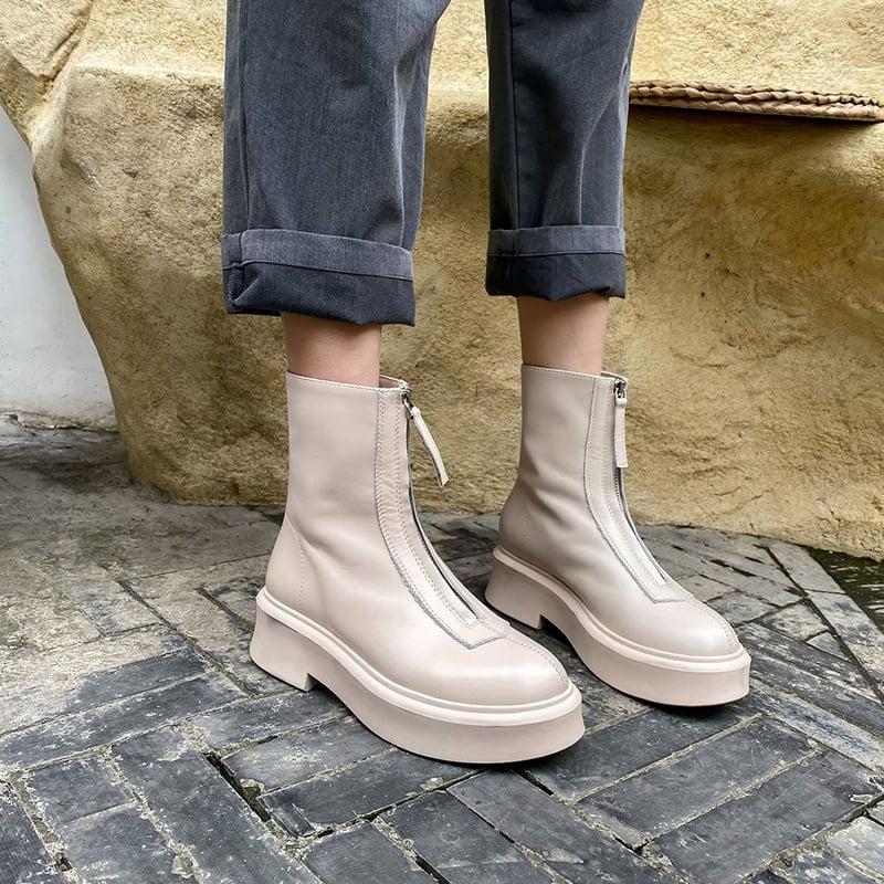 Chiko Laren Round Toe Flatforms Boots