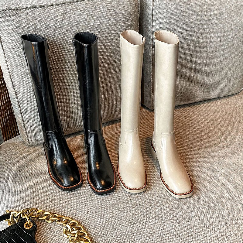 Chiko Lilly Square Toe Block Heels Boots