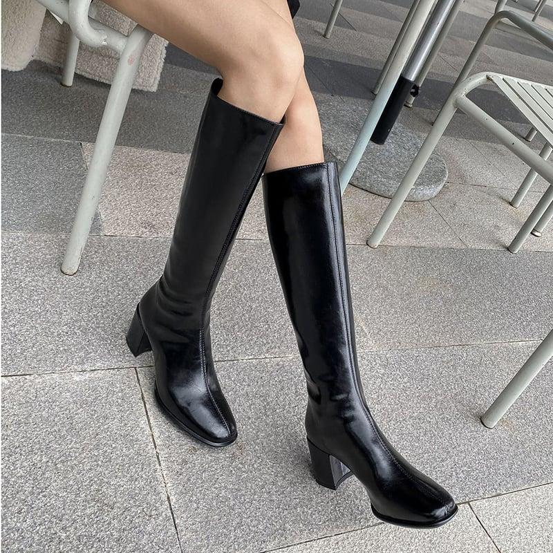 Chiko Lilvina Square Toe Block Heels Boots